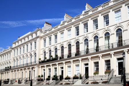 Georgische geschakelde herenhuizen in Londen, Engeland
