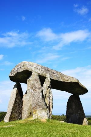approx: The Pentre Ifan, is a prehistoric megalithic communal stone, burial chamber which dates from approx 3500BC in Pembrokeshire, Wales, UK