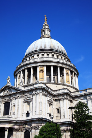 St Pauls Cathedral in London, England, UK, built after The Great Fire Of London of 1666, is Christopher Wrens masterpiece and one of the foremost tourist attractions in London