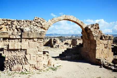 13th century: Paphos harbour, Cyprus Stock Photo