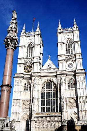 Westminster Abbey in Westminster, London, England, UK,  founded by Edward The Confessor in the 11th Century on the site of  an old Benedictine abbey dating from 750AD