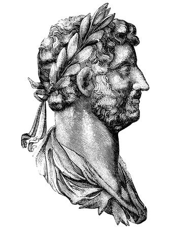 Adriano (Publio, lanzó, Adriano) fue emperador de Roma desde AD117-138. Fue el tercero de los llamados cinco buenos emperadores y es conocido por la construcción de la muralla de Adriano en toda Gran Bretaña para mantener alejados a los pictos invasores (los escoceses)