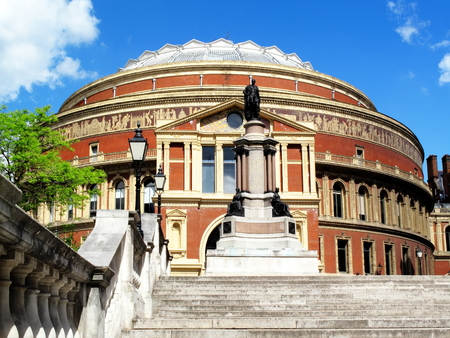 queen victoria: The Royal Albert Hall in Kensington, London, England, UK, opened by Queen Victoria in 1871 it is Britain Editorial