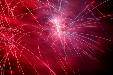 guy fawkes night: Firework exploding from a pyrotechnic celebration display