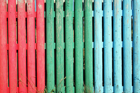 stake: Multi coloured wooden stake planks fun background