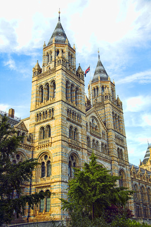 renowned: The Natural History Museum built between 1873-80 located on Exhibition Road in  Kensington, London, England, UK and is renowned for its collection of dinosaur fossil