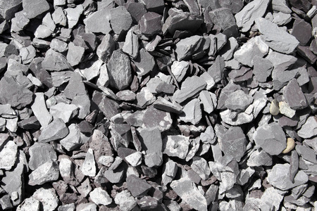 often: Background of slate stones which are often used in landscaping Stock Photo