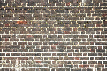 red brick: Old large weathered distressed red brick wall background