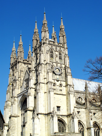 canterbury: Canterbury Cathedral in Canterbury Kent, England, UK, was founded by St Augustine in AD602 and is the cathedral of the Archbishop of Canterbury, the head of the Church Of England Editorial