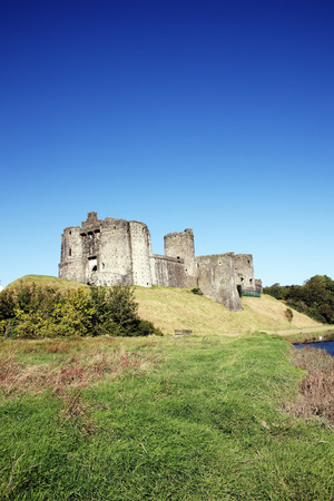 13th century: Kidwelly Castle, Kidwelly, Carmarthenshire, Wales, UK is a ruin of a 13th century medieval castle