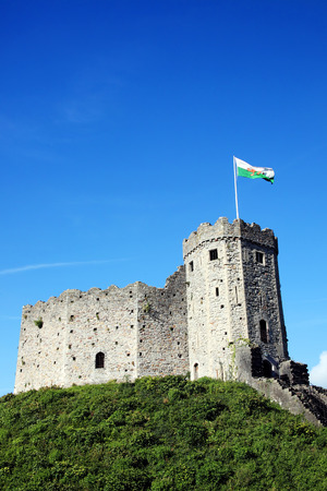 12th century: Cardiff Castle, Cardiff, Wales, UK is a ruin of a 12th century Norman medieval castle built on an earlier motte and bailey of the 11th century