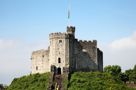 12th century: Cardiff, Wales, UK , September 14, 2016 :  Cardiff Castle in Castle Street is a 12th century ruin which is one of the cities most popular visitor attractions