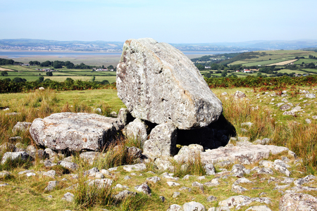approx: Arthurs Stone on the Gower, Wales, UK is a Neolithic burial chamber which dates from approx 2500BC