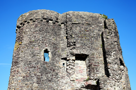12th century: Carmarthen Castle in Carmarthenshire,Wales, UK is a 12th century ruin which overlooks the River Twyi dominating the medieval tow
