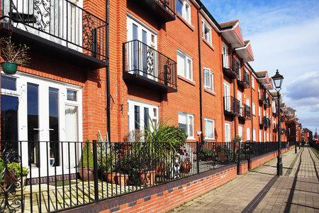 penthouse: Swansea, Wales, UK – February 24, 2017:  Modern luxury flat apartments in Swansea Bay