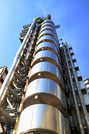 London, UK, May 11, 2008 : The Lloyd's Building which is the headquarters of the insurance firm Lloyd's of London in heart of the citys financial district
