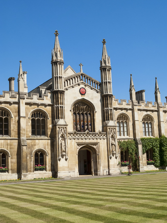 Cambridge, UK, May, 31 2009 : Corpus Christi College, Cambridge University established in the 14th century by the townspeople is the sixth oldest college of the university