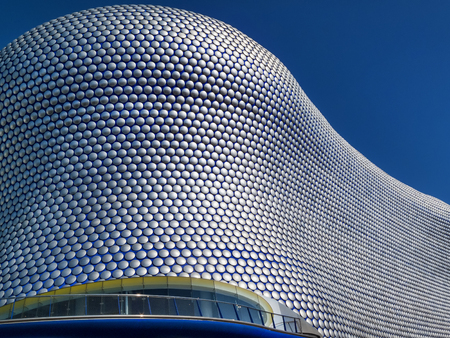 Birmingham, UK, April 29, 2009 : Futuristic modern building roof cladding at the Bullring shopping centre mall in the city centre