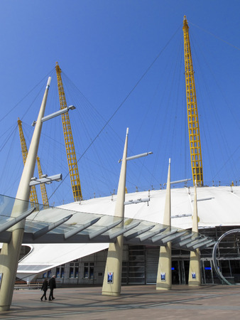 London, UK, April 19, 2009 : The Millennium Dome in Greenwich now known as the O2 Concert Hall which popular for its live music acts