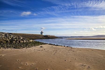 Georgian Lighthouse at Burry Port, Carmarthenshire, Wales, near the Gower Peninsula at the Loughor Estuary Reklamní fotografie
