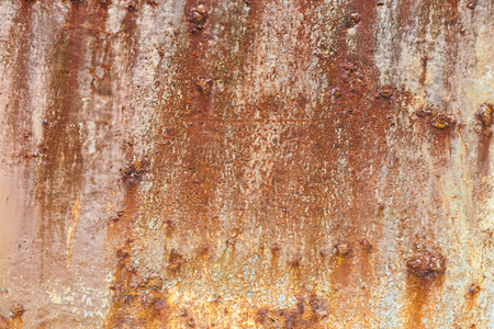 Rust covered weathered iron steel metal background with rusty peeling blistering paint Standard-Bild - 112456089