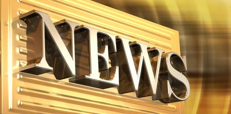 rendered: 3D rendered illustration of News icon Stock Photo