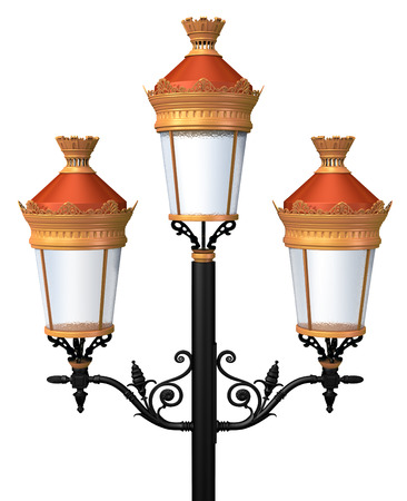lamp post: Decorative lamp post