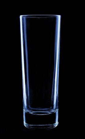 tall glass: tall glass on black background Stock Photo