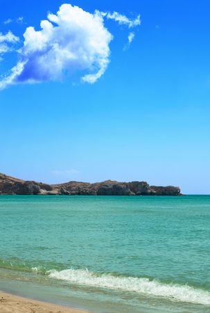 seascape of rocks and blue sky Stock Photo - 7230326