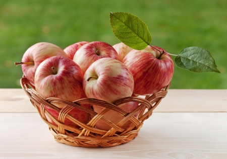 Basket with bright red apples Stock Photo - 7647145