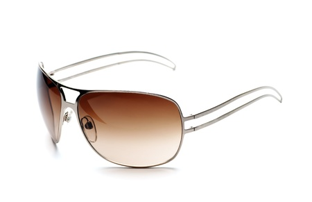 Fancy brown sunglasses white isolated photo