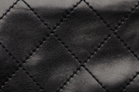 Black quilted leather background photo
