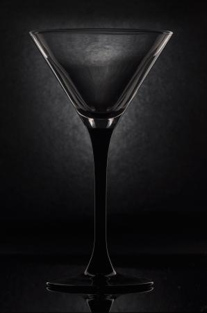 empty martini glass on a black background Stock Photo - 9339434