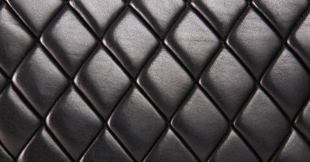 Black quilted  natural leather background photo