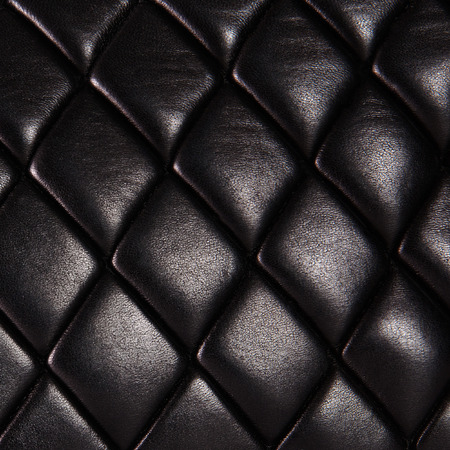 Black quilted  natural leather background
