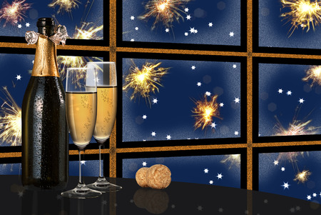 recurrence: colored new year Stock Photo