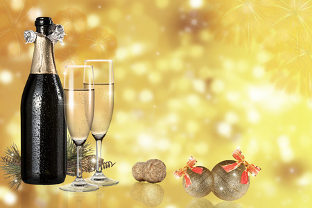 recurrence: champagne toast light background