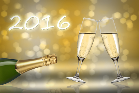 recurrence: toast champagne happy new year 2016