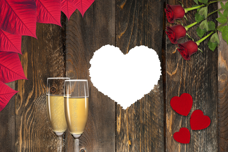fill: white heart to fill, toast champagne, roses