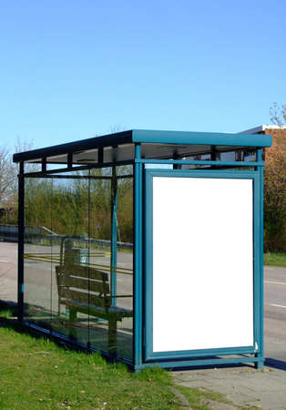 a bus stop with a blank bilboard for your advertising Stock Photo - 2989124