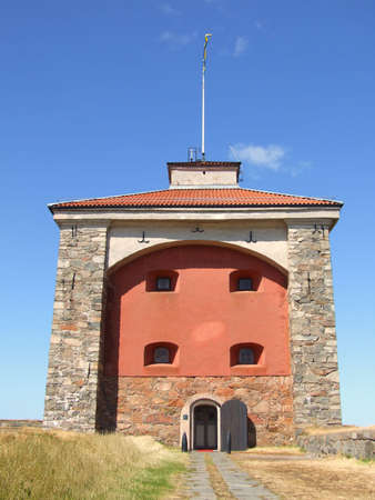 a view of the Elfsborg fortress at Gothenburg harbour in Sweden photo