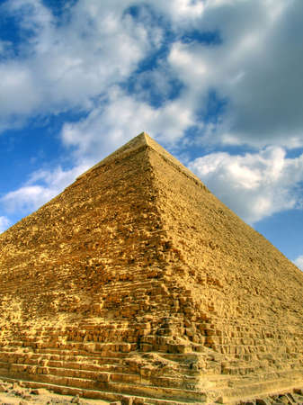 a high dynamic range image of the great pyramid in Egypt photo
