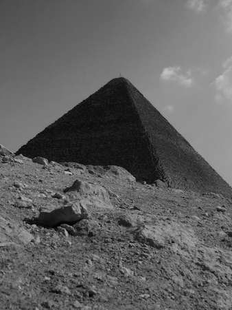 pharoah: one of the great pyramids of Egypt at giza