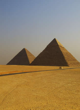 two of the great pyramids of giza in Egypt Stock Photo - 4019411