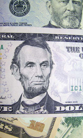ransom: A pile of crisp new american dollars of various values