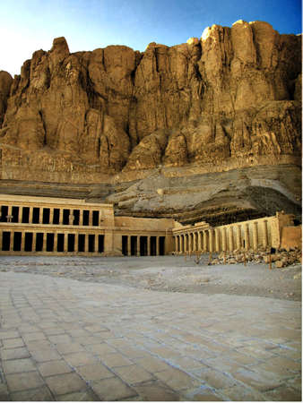 Hatshepsuts temple situated in the valley of the queens at luxor. photo