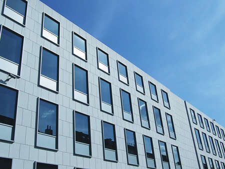 multi storey: An image of a corperate office building facility Stock Photo
