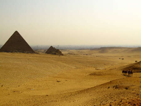 two of the great pyramids of giza in Egypt Stock Photo - 4239202