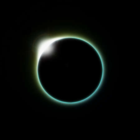 A solar eclipse of the moon as seen from space or the planet earth Stock Photo - 4239126