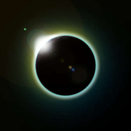 apocalypse: A solar eclipse of the planet earth as seen from space or the moon
